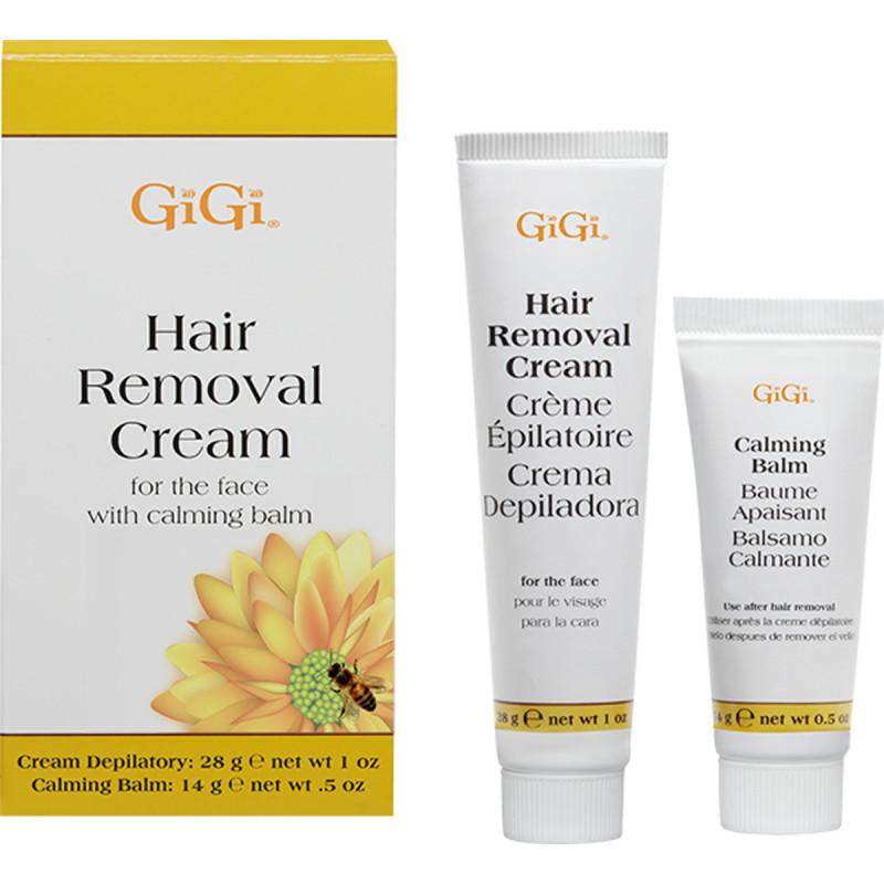 gigi hair removal cream for the face 1 oz. & .5 oz