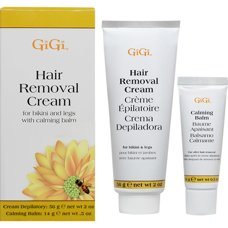 gigi hair removal cream for legs & bikini 2 oz & .5 oz