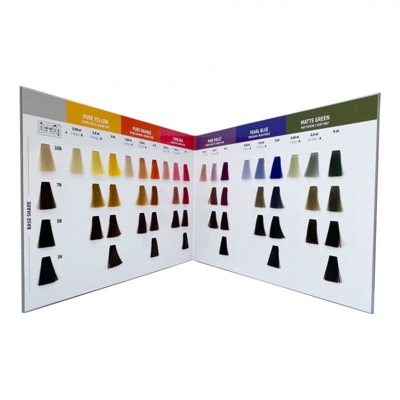 goldwell pure pigments color card