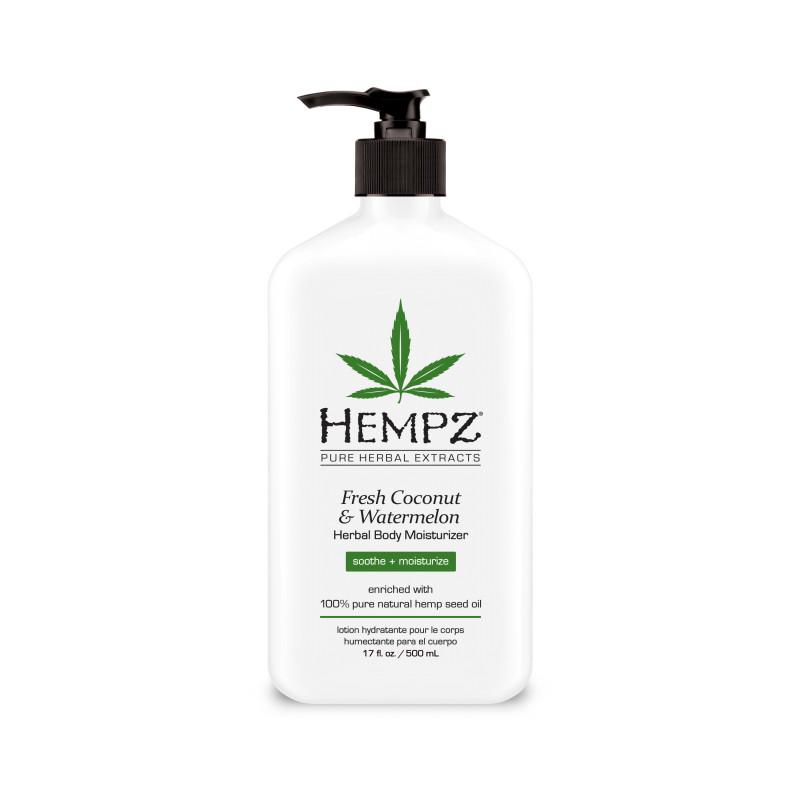 hempz fresh coconut & watermelon herbal body moisturizer 17oz