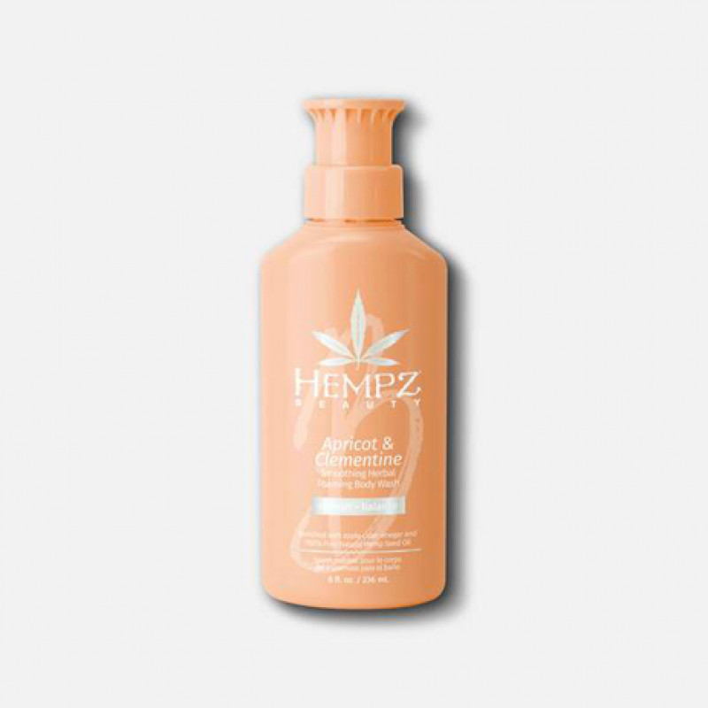 hempz apricot & clementine smoothing herbal foaming body wash 8oz