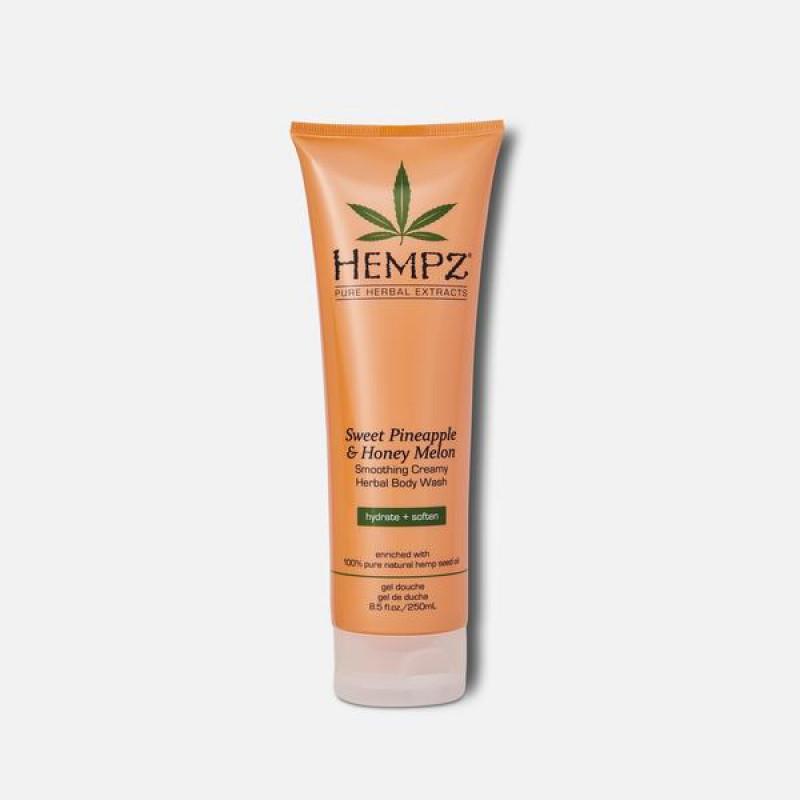 hempz sweet pineapple & honey melon herbal body wash 8.5oz