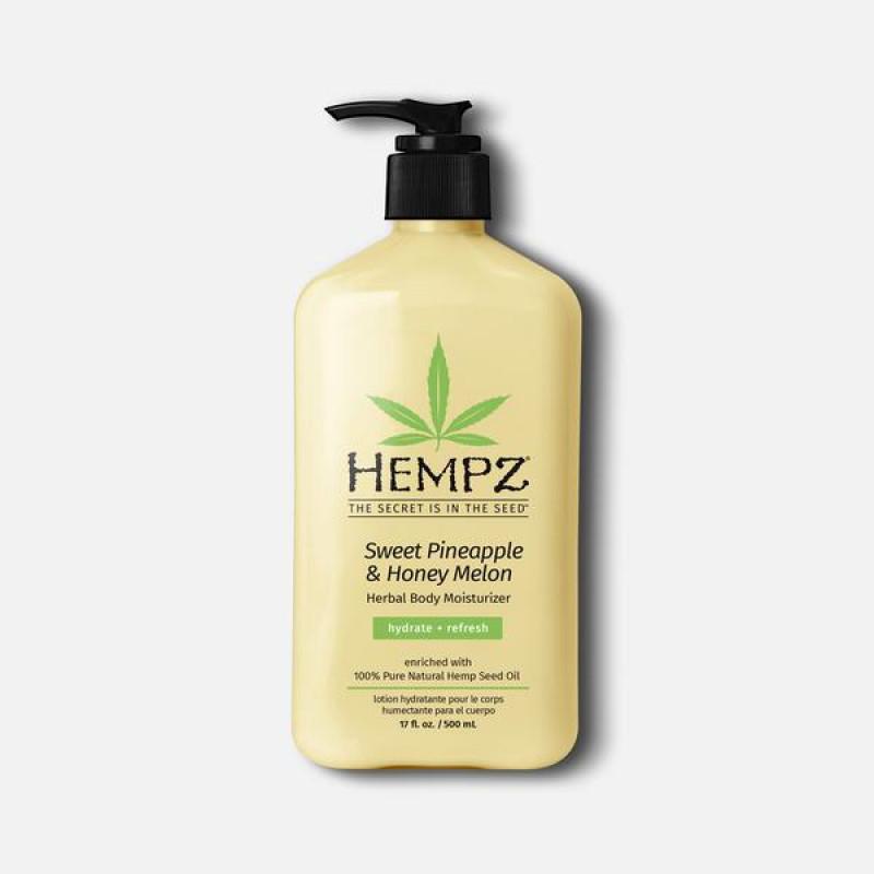 hempz sweet pineapple & honey melon herbal body moisturizer 17oz
