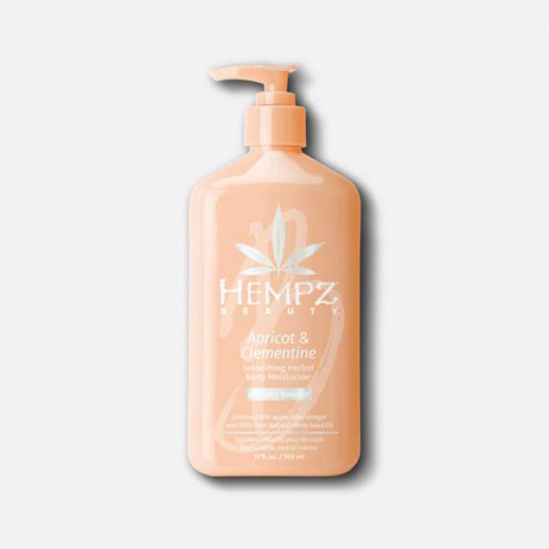 hempz apricot & clementine smoothing herbal body moisturizer