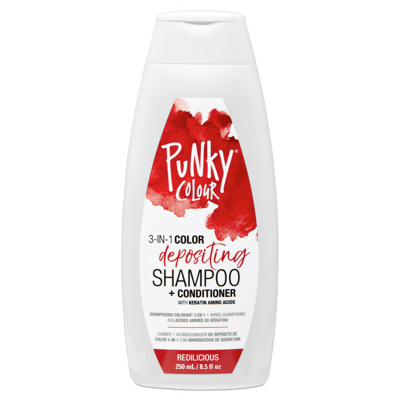 punky colour red-iculous 3-in-1 color depositing shampoo + conditioner 8.5oz
