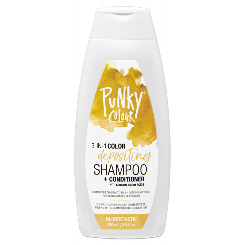 punky colour blondetastic 3-in-1 color depositing shampoo + conditioner 8.5oz