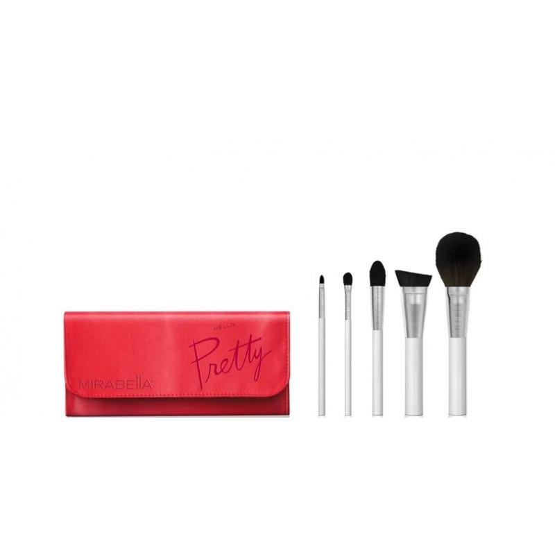 mirabella travel professional makeup brush set