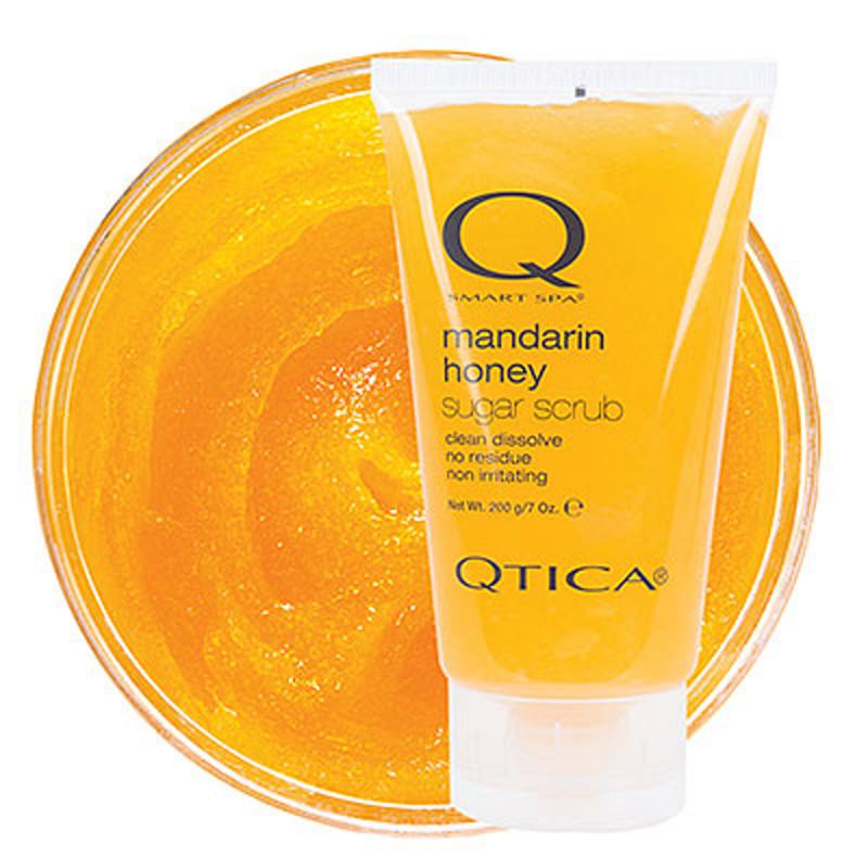 qtica smart spa mandarin honey sugar scrub 7oz