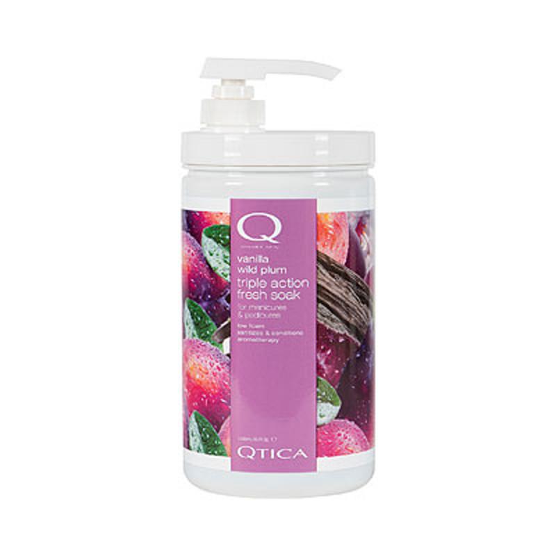 qtica smart spa vanilla wild plum triple action fresh soak 32oz