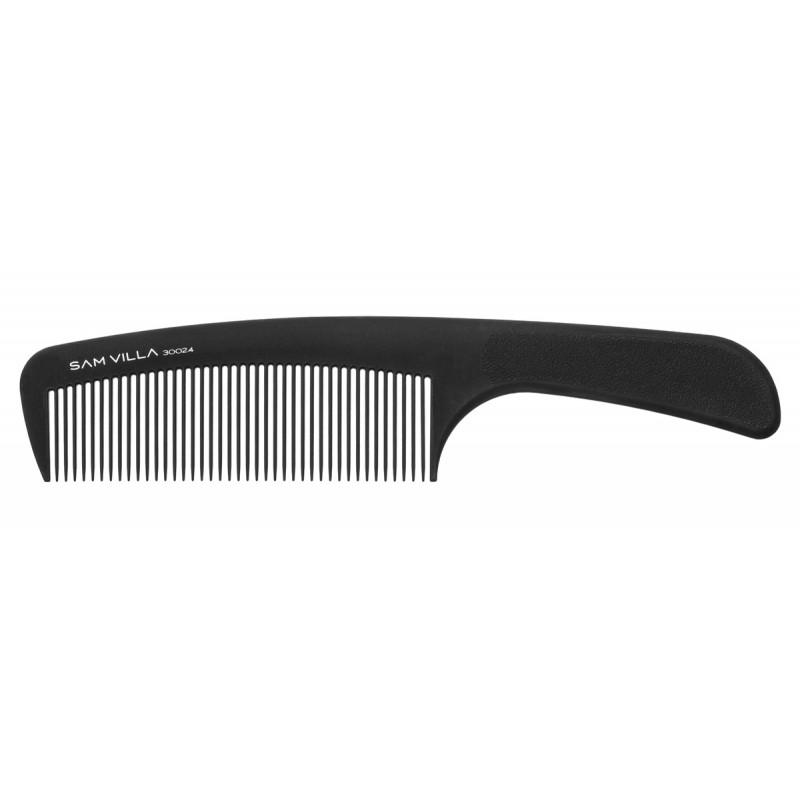 sam villa artist series handle comb black #30024