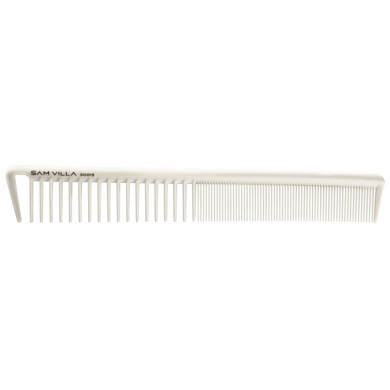 sam villa signature series short cutting comb ivory #30015