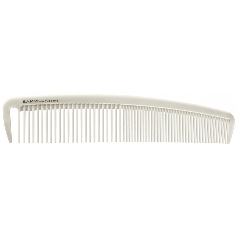sam villa signature series wide cutting comb ivory #30016