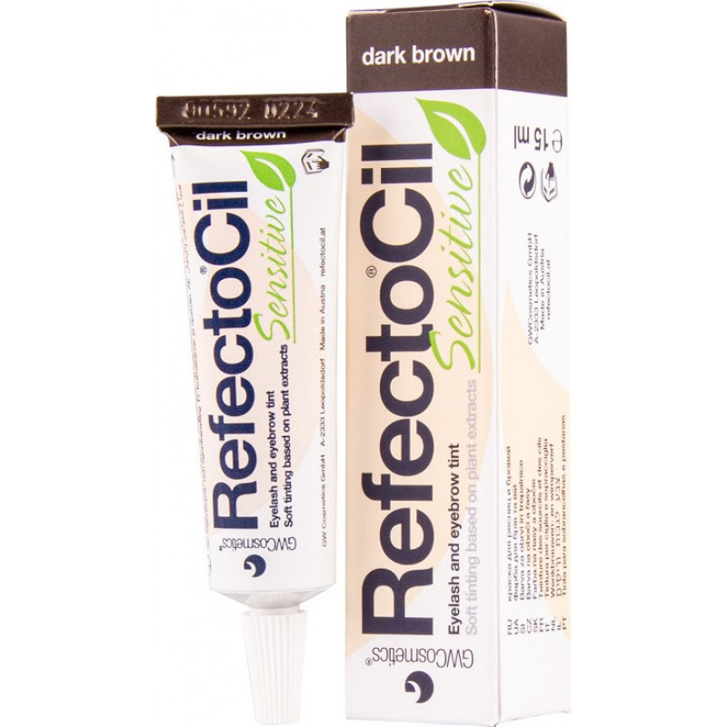 refectocil sensitive dark brown tint 15ml