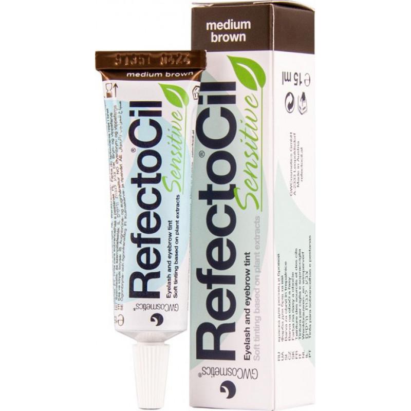 refectocil sensitive medium brown tint 15ml