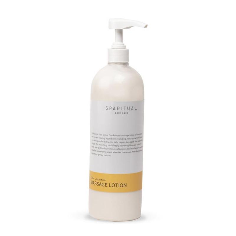 sparitual citrus cardamom massage lotion 976ml