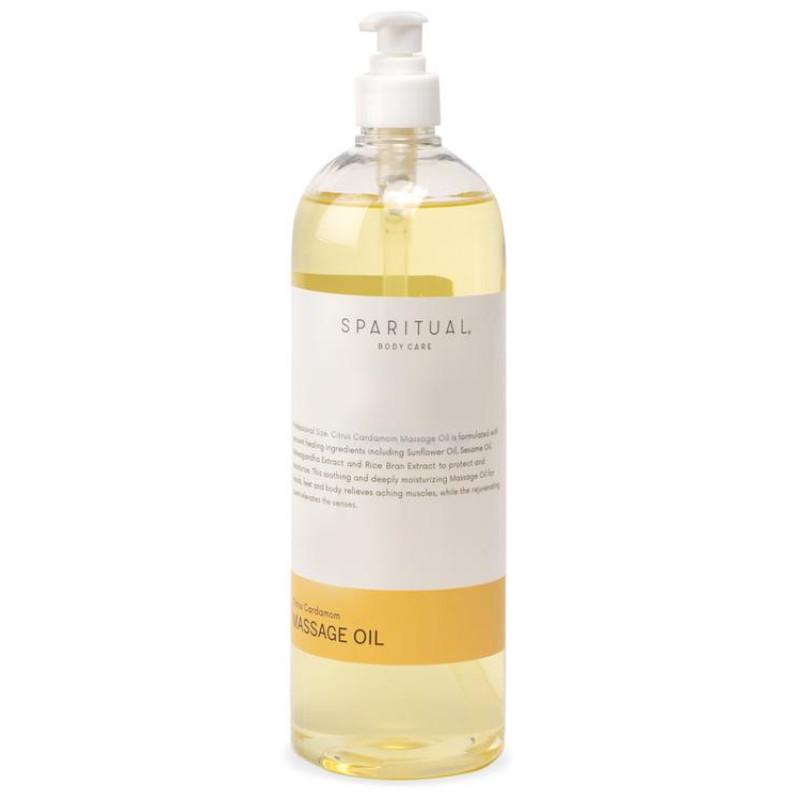 sparitual citrus cardamom massage oil 33.8oz