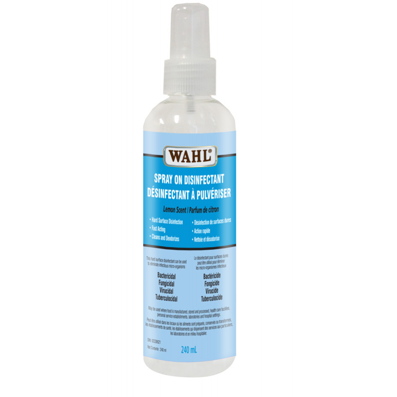 wahl spray on disinfectant 240ml #53325