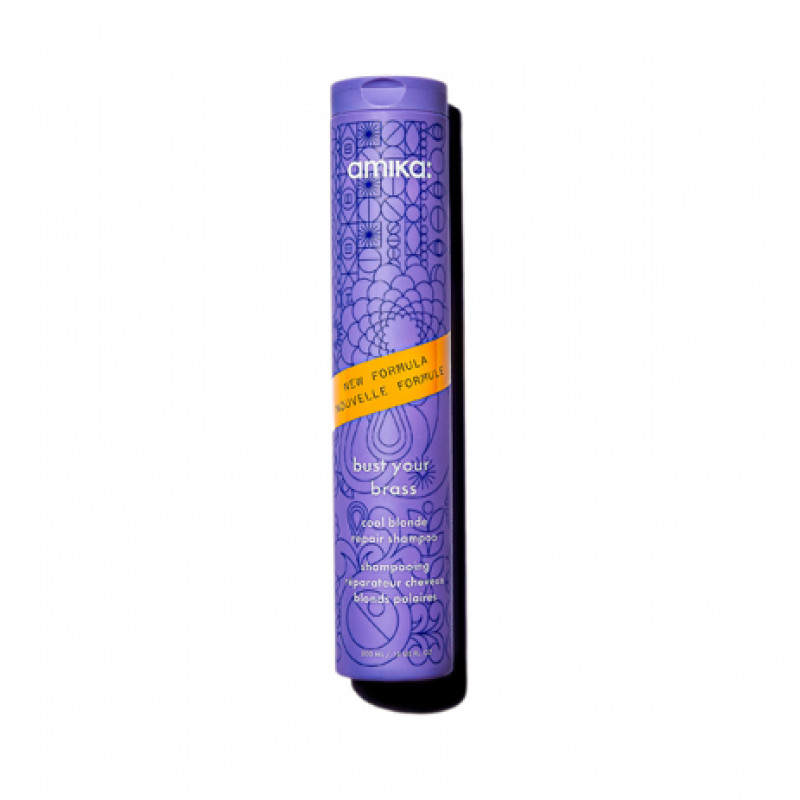amika: bust your brass cool blonde repair conditioner 300ml/10.1oz - reformulated