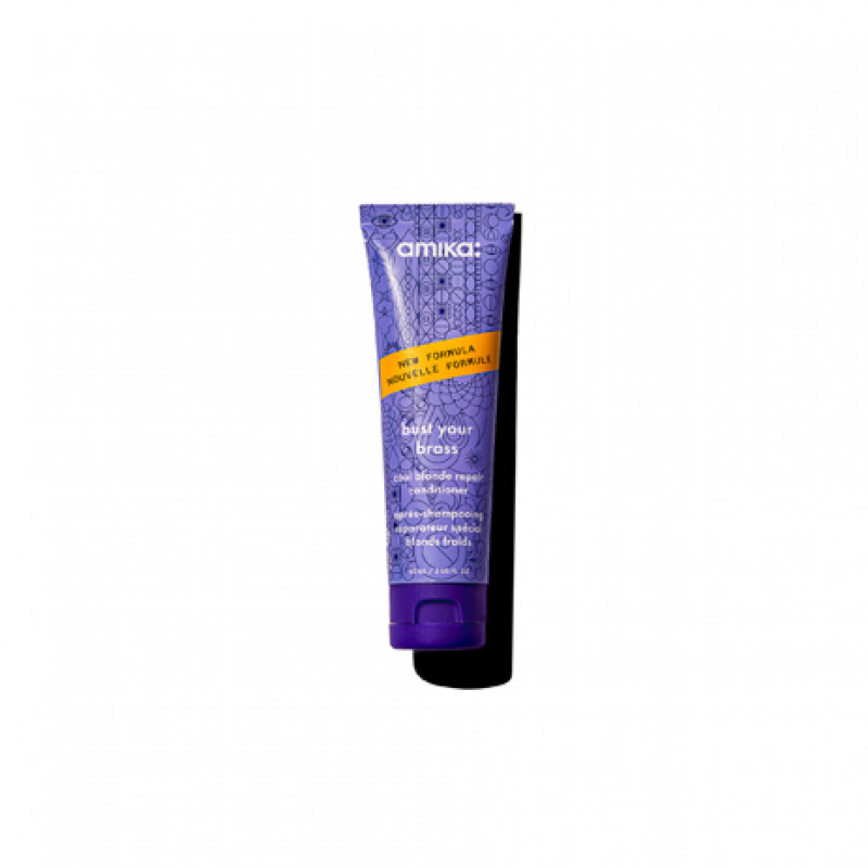 amika: bust your brass cool blonde repair conditioner 60ml/2.03oz - reformulated