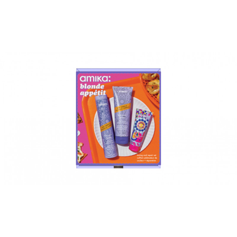 amika: blonde appetit bust your brass toning & repair holiday set