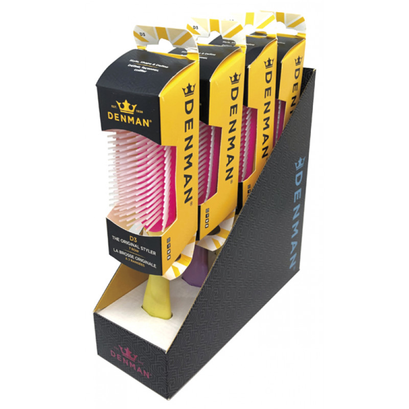 denman spirit de-3 classic styling brush 4pc display #de3spc