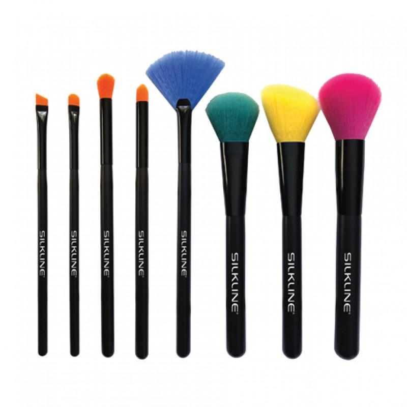 silkline spirit make-up brush 8pc set #mkbrudispspc