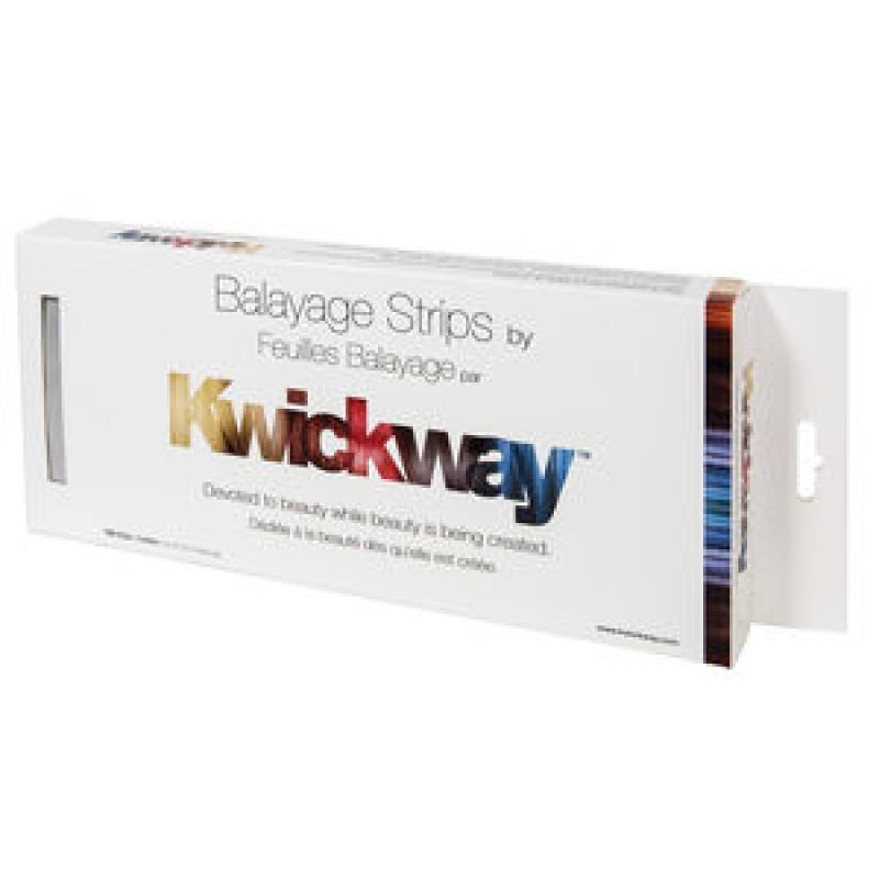 """kwickway balayage strips 12"""" x 5"""" (150 strips) (silver) # kwb12s"""