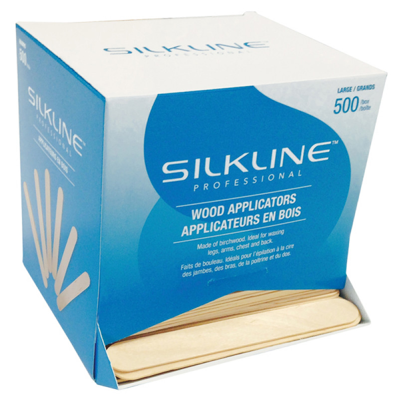 silkline professional value-pack wood applicators 500pc # sswa03bulkc