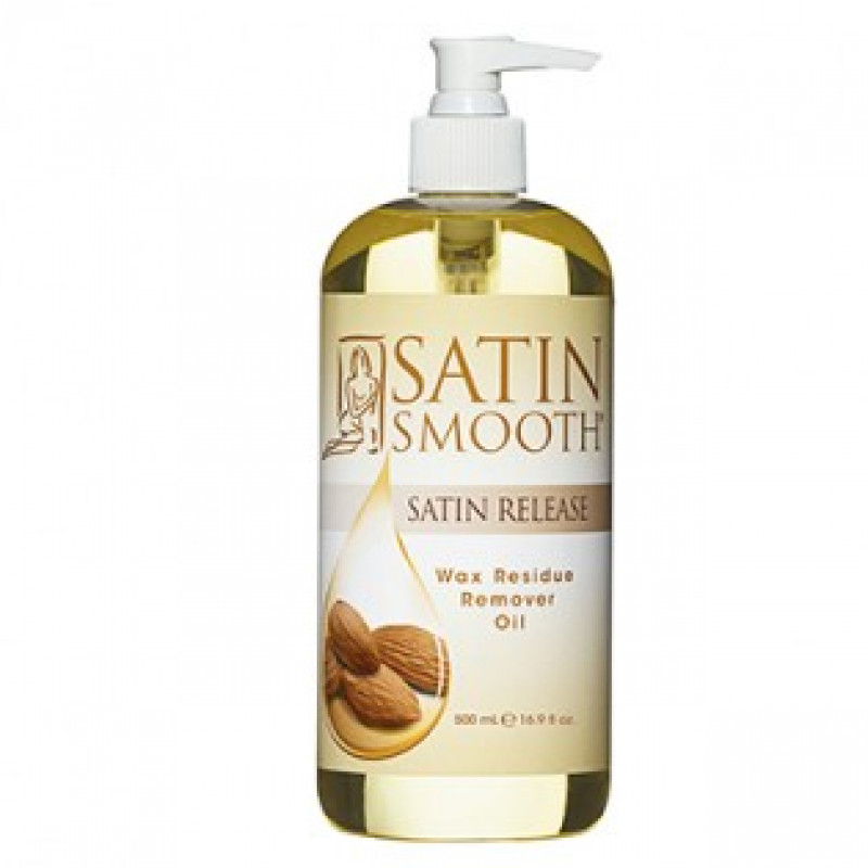 satin smooth satin release wax residue remover oil 16 oz # sswlr16g