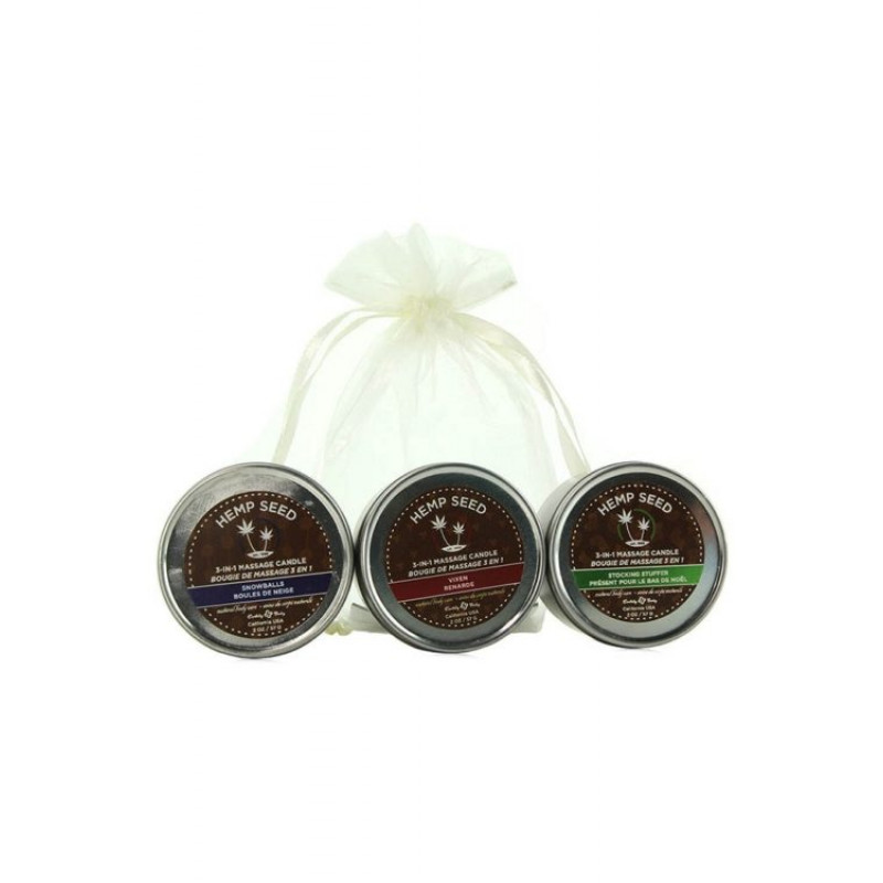 earthly body holiday candles trio