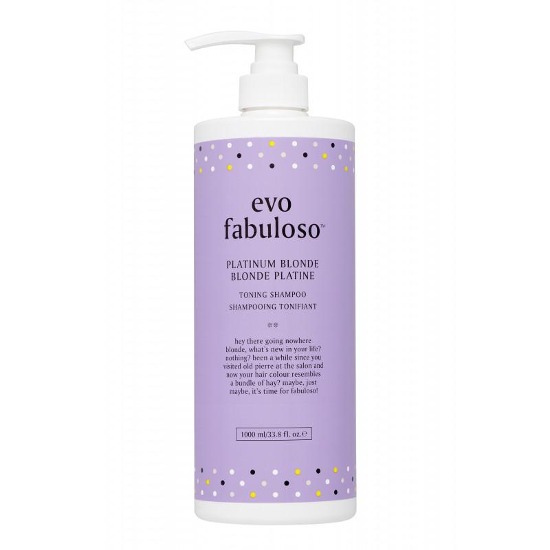 evo fabuloso platinum blonde toning shampoo litre