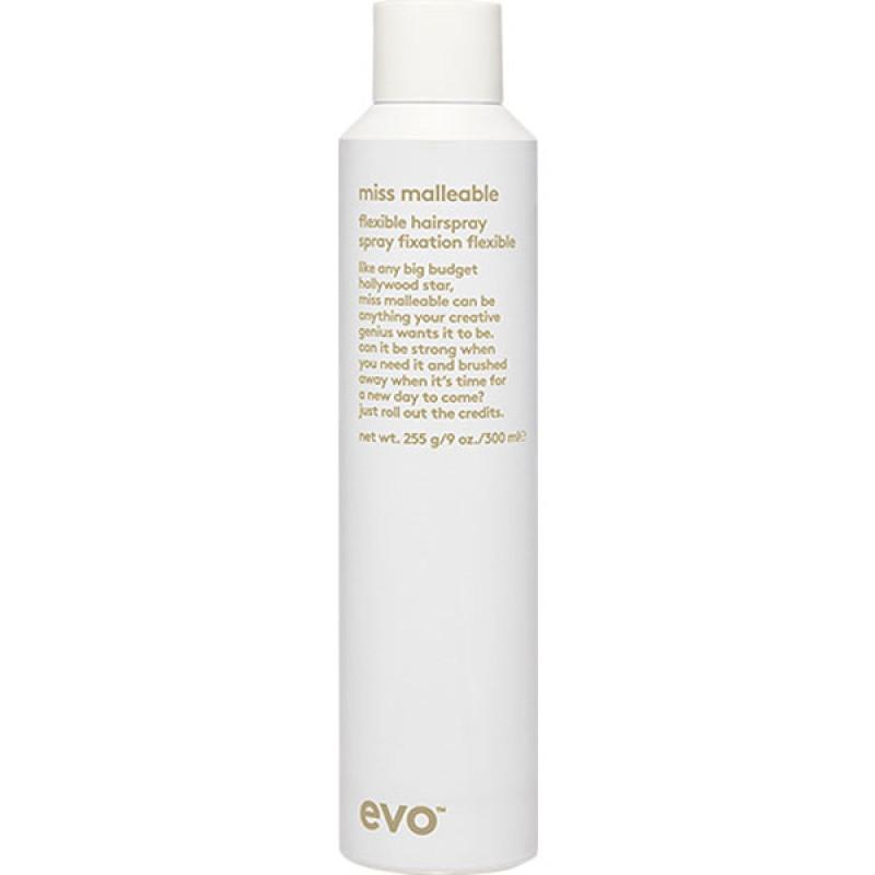 evo miss malleable flexible hairspray 300ml