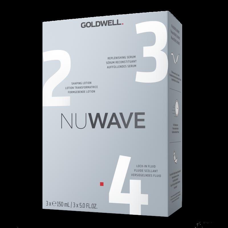 goldwell nuwave step 2 step 3 step 4, 3x150ml