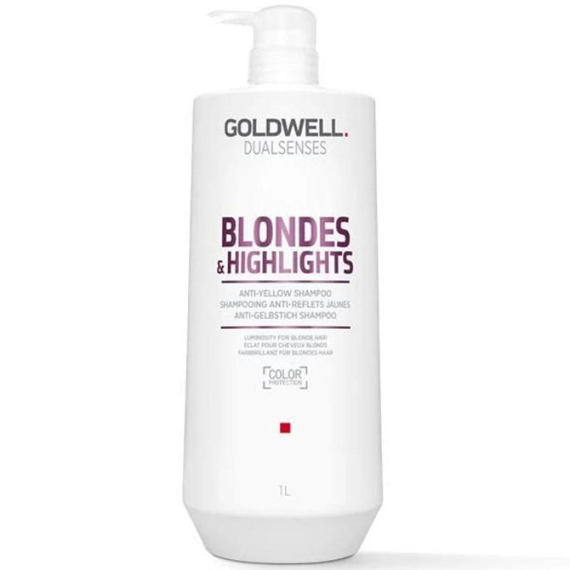 dualsenses blondes & highlights anti-yellow shampoo litre