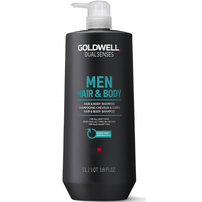 dualsenses men hair & body shampoo litre