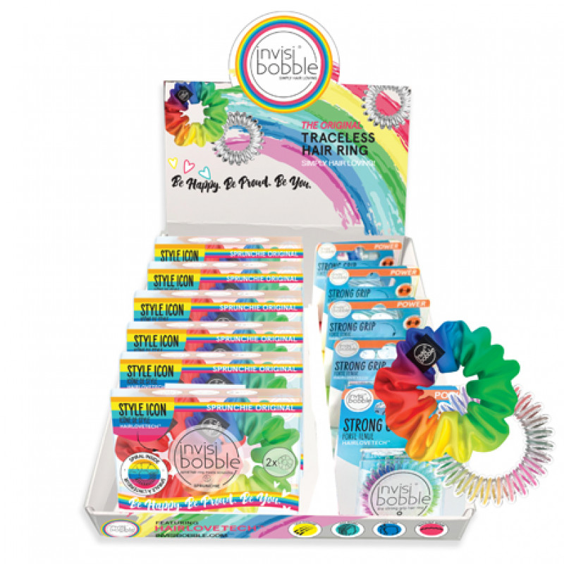invisibobble be happy be proud be you display 11pc
