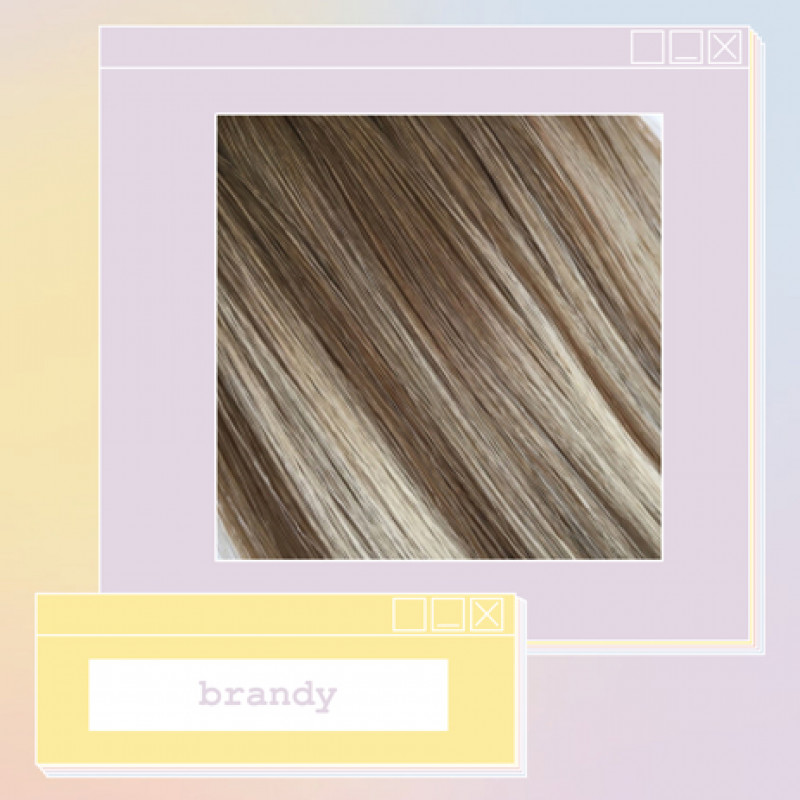 pony extensions hand tied brandy 18 inch