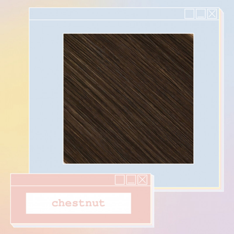 pony extensions hand tied chestnut 18 inch