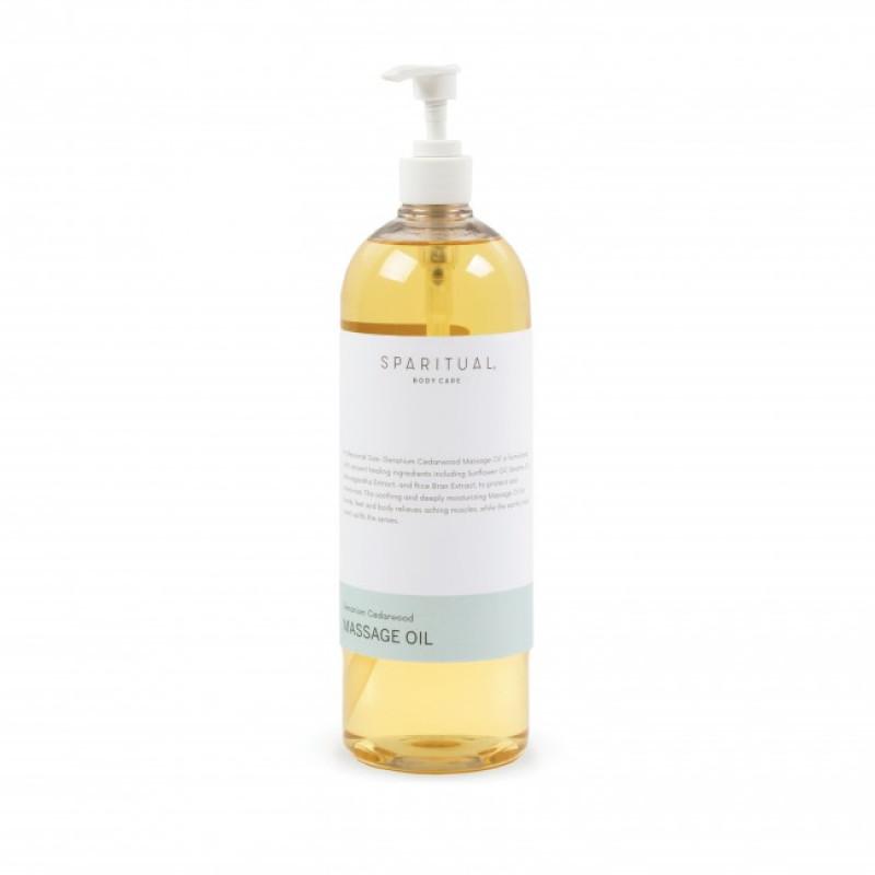 sparitual geranium cedarwood massage oil 33.8oz