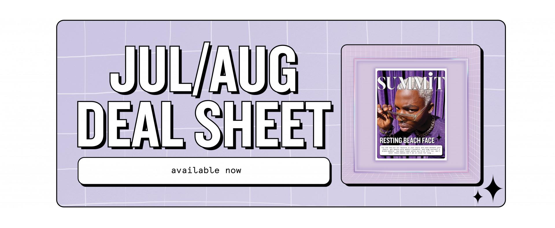 july aug deal sheet