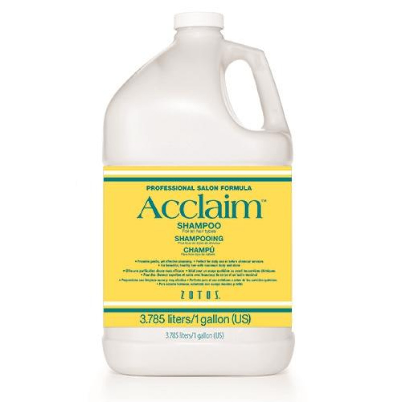 zotos acclaim shampoo all hair types gallon